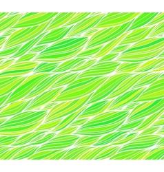 Green grass doodle hair seamless pattern vector