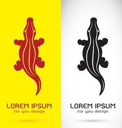 Image of a crocodile design vector