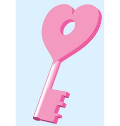 key from heart vector image vector image