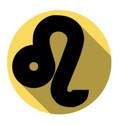 Leo sign flat black icon vector