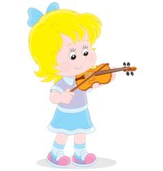 Little violinist vector image vector image