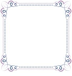 Multilayer violet blue elegant frame vector