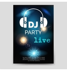 Music party brochure flyer template vector image vector image