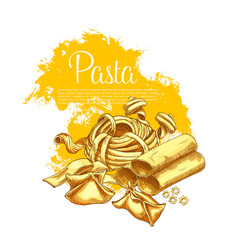 Pasta poster for italian restaurant vector