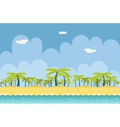 Seamless Sunny Beach Ocean Sea Nature Concept Flat vector image