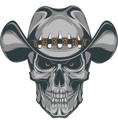 Skull cowboy vector image