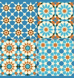 traditional moroccan mosaic patterns vector image