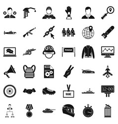 victory in sport icons set simple style vector image vector image