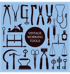 Vintage tools and instruments vector image vector image
