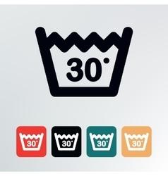 Wash at or below icon vector image vector image