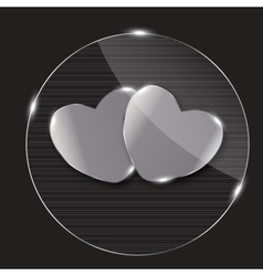 Heart glass Button vector image
