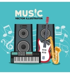 Musical instrument and sound design vector