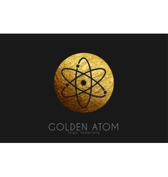 Atom symbol atom logo design color atom science vector