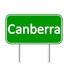 Canberra road sign vector