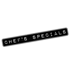 Chef specials rubber stamp vector