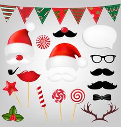 christmas hipster set vector image