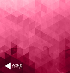 Abstract triangle wine background vector
