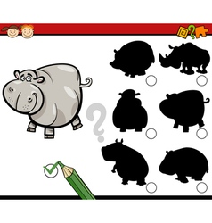 Education shadows task cartoon vector