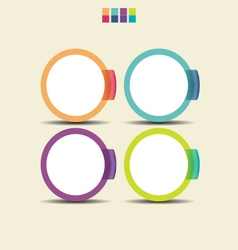 Set of colorful circle infographic element vector