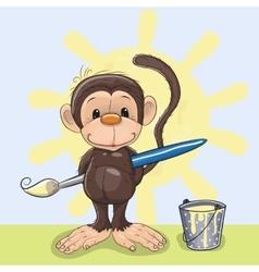 Artist monkey vector