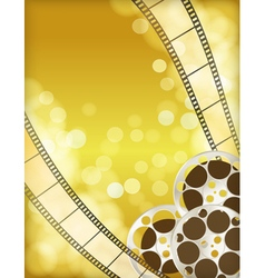 cinema golden background vector image