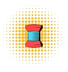 Spool of thread icon comics style vector