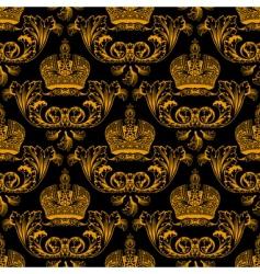 regal crest pattern vector image