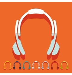 Flat design headphones vector