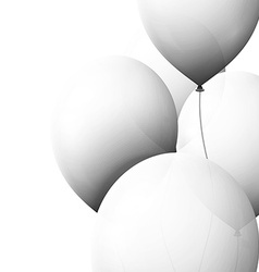 Set realistic color air balloons isolated on white vector