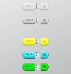 button memory card vector image