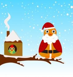 Christmas bird vector