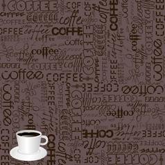 coffee typography vector image