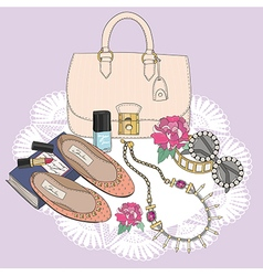 Fashion essentials vector image vector image