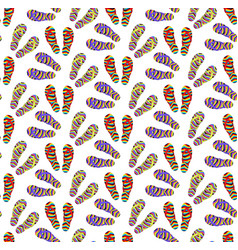 flip-flops seamless pattern cartoon style summer vector image vector image