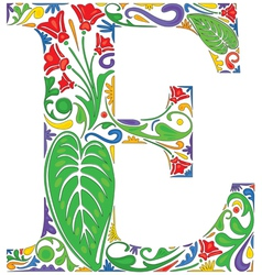 Floral Eight vector image