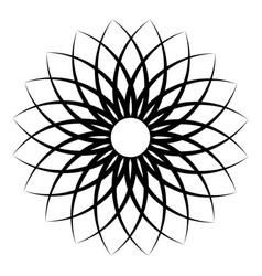 flower pattern petal flower circular openwork vector image vector image