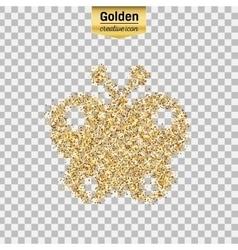 Gold glitter object vector