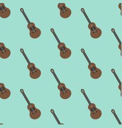 Guitar seamless pattern vector