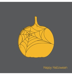 Halloween pumpkin with spider web vector