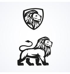 Lion logo sport mascot emblem design vector