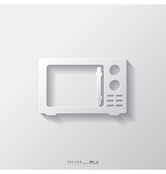 microwave icon kitchen equipment vector image
