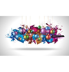 Modern Christmas Background with abstract vector image
