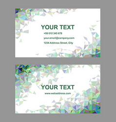 Multicolored triangle design business card set vector