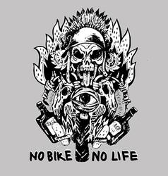 No bike no life vector