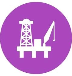 Oil Platform vector image