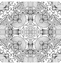 Pretty kaleidoscope background with floral designs vector