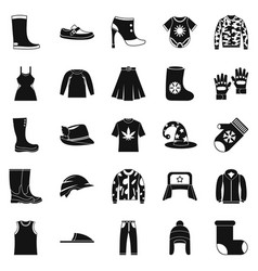 Purchase of accessories icons set simple style vector