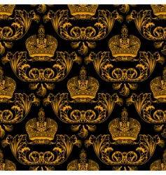 regal crest pattern vector image