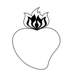 Sacred heart cartoon icon image vector