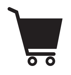 shopping cart icon on white background flat style vector image